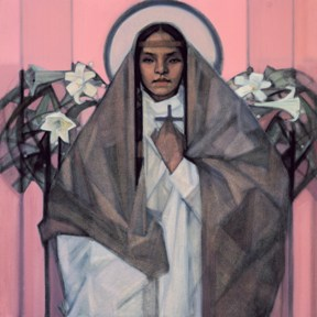 Kateri Tekawitha©by Janet McKenzie In Celebration of the Canonization of The Lily of the Mohawks