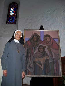 Sr. Ana Clara, OSA, Mother Superior with Holy Family II
